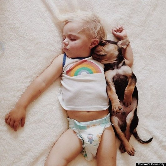 «Вместе они спят около двух часов каждый день», – говорит мама Бо.